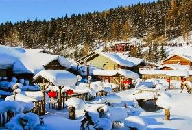 冰雪帝王哈尔滨冰雪大世界、亚布力、中国雪乡、北方三亚湾、帆船酒店雪地温泉6日游   编号:309